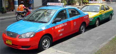 Такси в Бангкоке в Тайланде