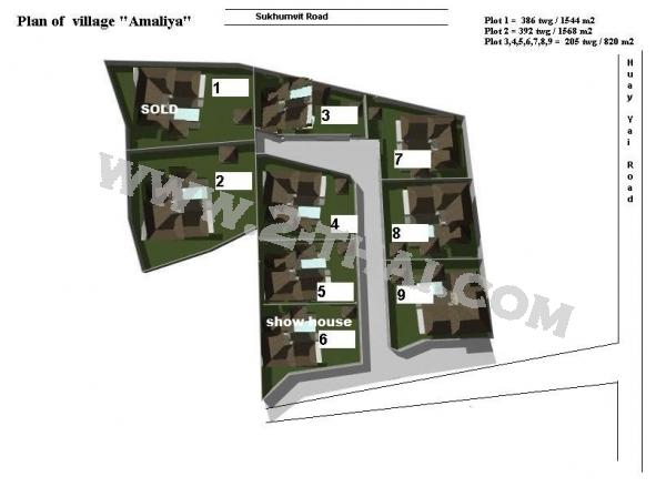 Amaliya Village Паттайя Кондо  - купить-продать - дешевые цены, Тайланд - Дома, Карты