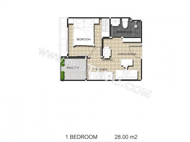 Паттайя, Квартира - 28 м²; Цена продажи - 3.920.000 бат; Arcadia Center Suites