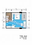 Центральная Паттайя Centara Avenue Residence and Suites Pattaya планировки студий