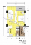 Центральная Паттайя Centara Avenue Residence and Suites Pattaya планировки 1-комнатных квартир