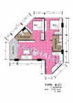 Центральная Паттайя Centara Avenue Residence and Suites Pattaya планировки 2-комнатных квартир