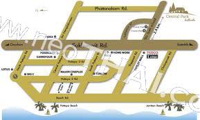 Central Park Hill Side Паттайя Кондо  - купить-продать - дешевые цены, Тайланд - Дома, Карты