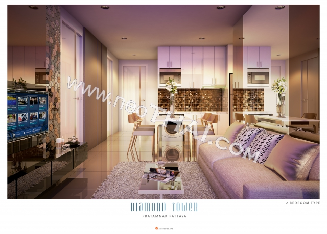 Паттайя, Квартира - 56 м²; Цена продажи - 4.816.000 бат; Diamond Tower