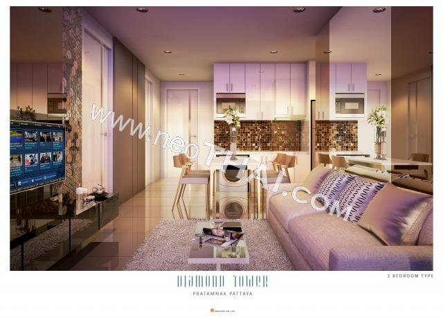 Паттайя, Квартира - 56 м²; Цена продажи - 4.676.000 бат; Diamond Tower