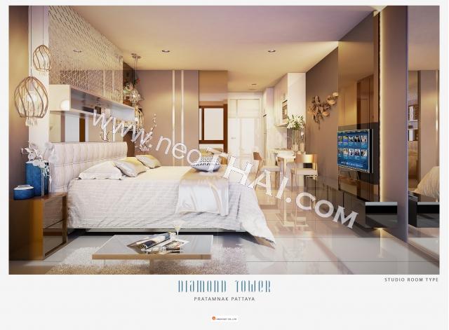 Паттайя, Квартира - 28 м²; Цена продажи - 4.424.000 бат; Diamond Tower