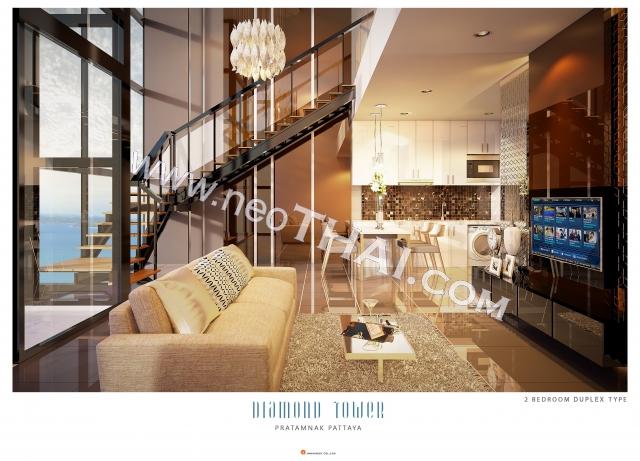 Паттайя, Квартира - 80 м²; Цена продажи - 13.040.000 бат; Diamond Tower