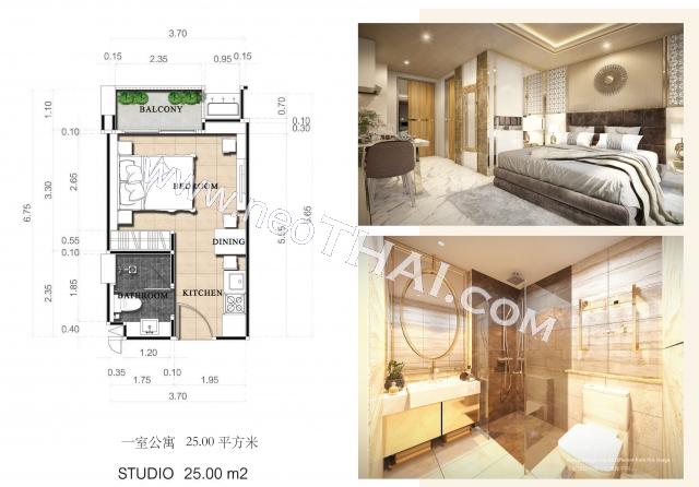 Паттайя, Квартира - 25 м²; Цена продажи - 2.298.000 бат; Dusit Grand Park 2