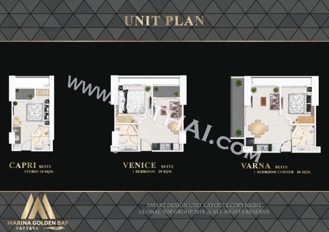 Паттайя, Квартира - 29 м²; Цена продажи - 2.800.000 бат; Marina Golden Bay