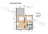 20 ноября 2012 Специальное предложение в Paradise Park. 2-комнатная квартира 38.9 кв.м. с видом на бассейн