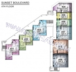 Пратамнак Хилл Sunset Boulevard Residence поэтажные планы 1 корпус