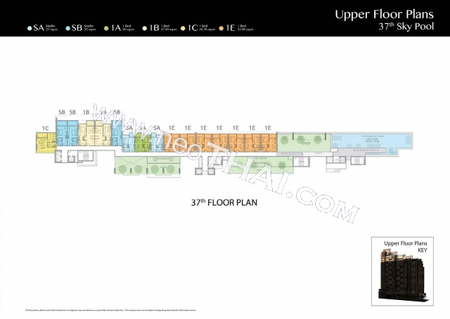 Паттайя, Квартира - 35 м²; Цена продажи - 4.150.000 бат; The Riviera Jomtien