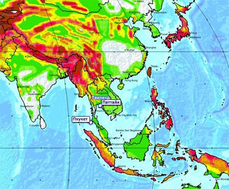 Тайланд землетрясения и цунами