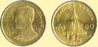 Монета 50 сатангов - полбата