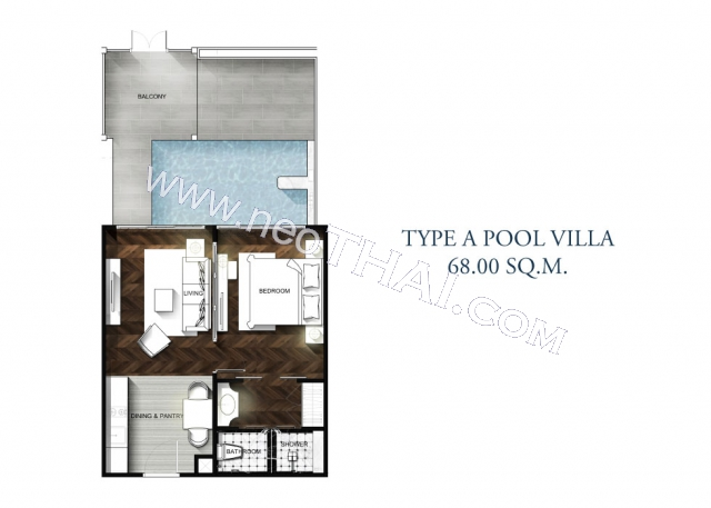 Паттайя, Квартира - 68 м²; Цена продажи - 8.400.000 бат; Grand Florida Beachfront