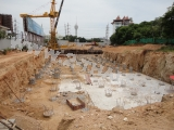13 мая 2011 The Axis Condominium, Паттайя - начало строительных работ. Закладка фундамента.
